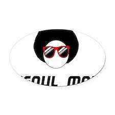 Seoul Man Oval Car Magnet