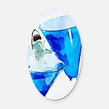 GREAT WHITE CHARDONNAY Oval Car Magnet