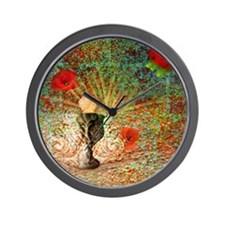 coupe-pierre-coquelicots-Lore-M-cafepre Wall Clock
