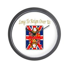 Queens Jubilee Card Reign Over Us Wall Clock