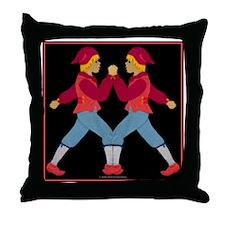 toteflannelslazyjack Throw Pillow