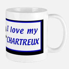bumperstickerilovemychartreux Small Small Mug