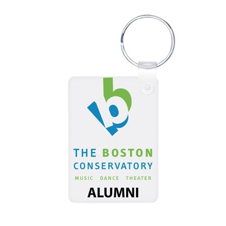 Alumni_Stacked_Color Aluminum Photo Keychain