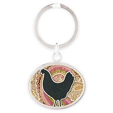 charmround-2 Oval Keychain