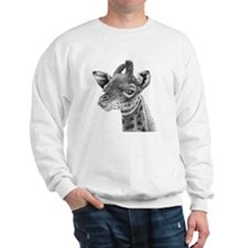Large Wall Clock (baby giraffe) Sweatshirt