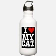 HeartCatipadSleeve Water Bottle