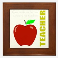 God, Teachers, apples Framed Tile