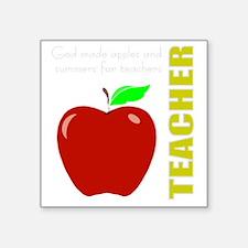 "God, Teachers, apples Square Sticker 3"" x 3"""