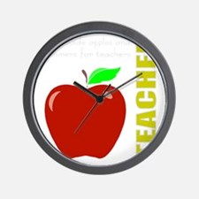 God, Teachers, apples Wall Clock