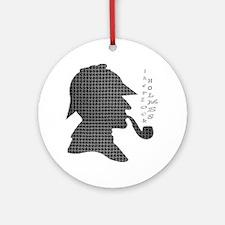 sherlock-holmes-Lore-M Round Ornament