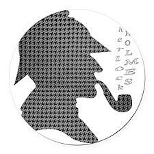 sherlock-holmes-Lore-M Round Car Magnet