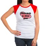 miriam loves me Women's Cap Sleeve T-Shirt
