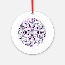 cp mosaic circle purple Round Ornament