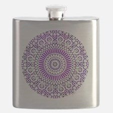 cp mosaic circle purple Flask