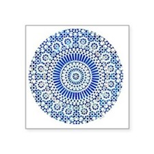 "cp mosaic circle indigo Square Sticker 3"" x 3"""