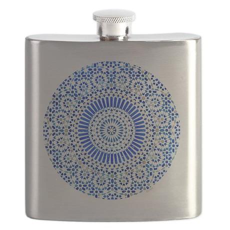 cp mosaic circle indigo Flask