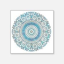 "cp mosaic circle lt blue Square Sticker 3"" x 3"""