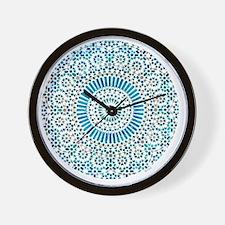 cp mosaic circle lt blue Wall Clock