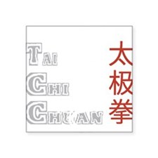 "tai42dark Square Sticker 3"" x 3"""