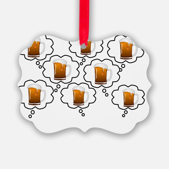 retired pharmacist thoughts beer  Ornament