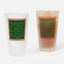 TrackFieldSquare Drinking Glass