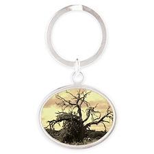 Texas Tree Oval Keychain