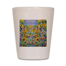 FF Monet FlowerBed2 Shot Glass