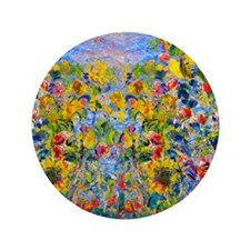 """FF Monet FlowerBed2 3.5"""" Button"""