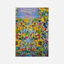 FF Monet FlowerBed2 Rectangle Magnet