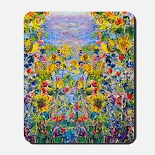 FF Monet FlowerBed2 Mousepad