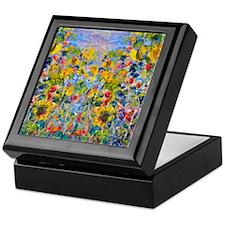 FF Monet FlowerBed2 Keepsake Box
