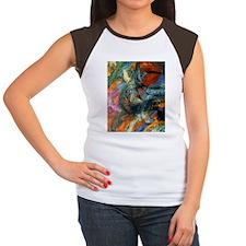 FF Monet Paths Women's Cap Sleeve T-Shirt