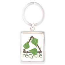 Recycle Portrait Keychain