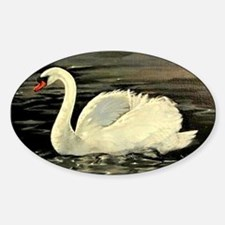Closer Tile Swan (Silver Grey) Decal