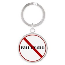 No Bullying Sign Round Keychain