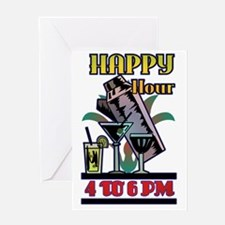 HAPPY-HOUR-SIGN Greeting Card