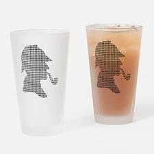 sherlock-holmes-Lore-M-fond-noir-1 Drinking Glass