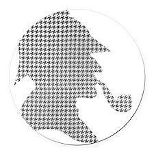 sherlock-holmes-Lore-M-fond-noir- Round Car Magnet