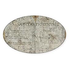 10 Commandments Decal