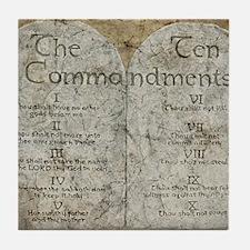 10 Commandments Tile Coaster