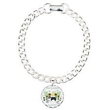 BorderCollie Charm Bracelet, One Charm
