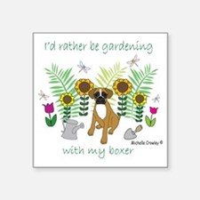 "Boxer Square Sticker 3"" x 3"""