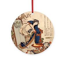 The_Strong_Oi_Pouring_SakeSC Round Ornament