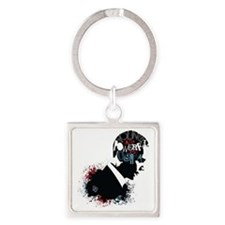Young and Powerful for Obama Square Keychain