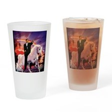 Obama on Unicorn Drinking Glass