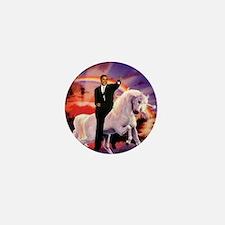 Obama on Unicorn Mini Button