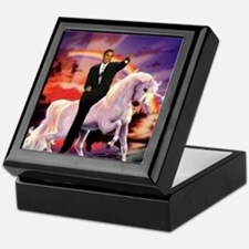 Obama on Unicorn Keepsake Box