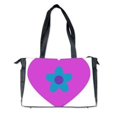 heart flower3 Diaper Bag