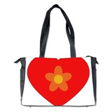 heart flower Diaper Bag
