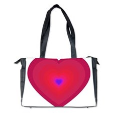 hearts in hearts pinks Diaper Bag